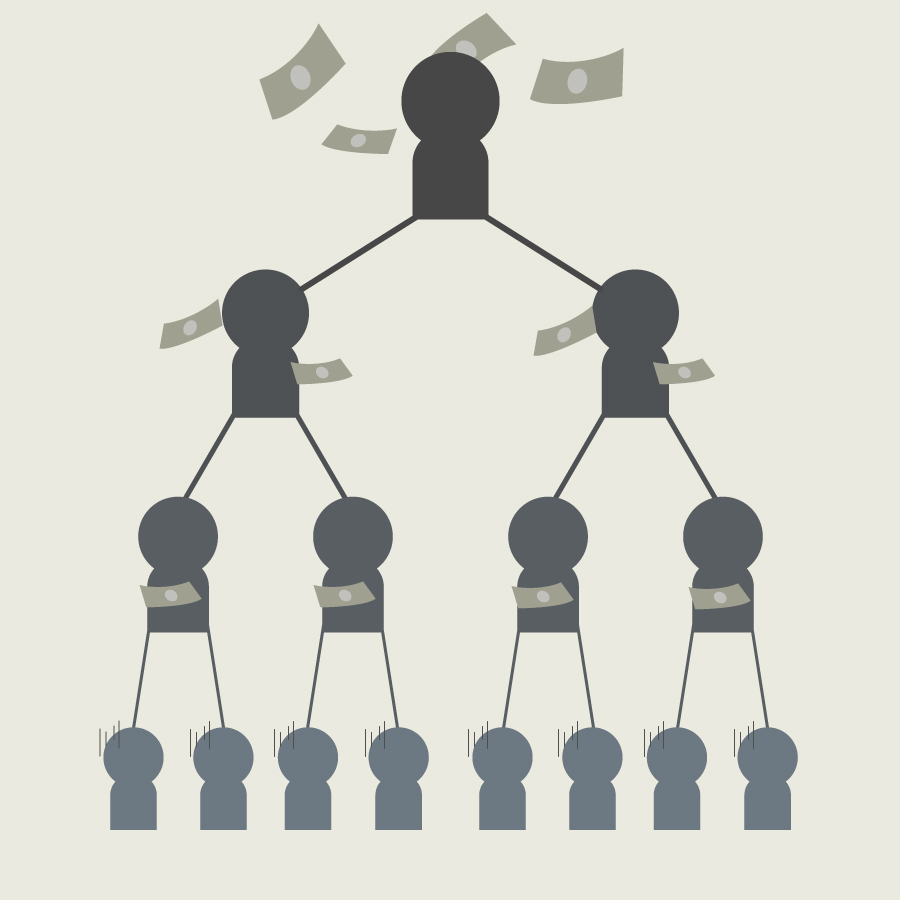 マルチ商法(連鎖販売取引)の画像