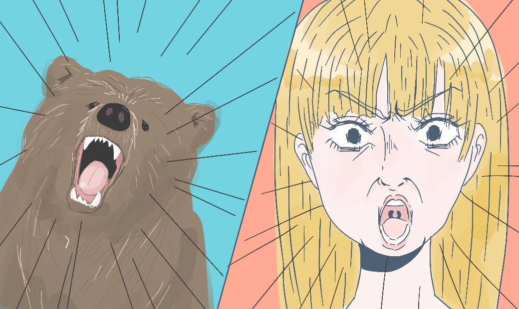 ゴルディロックス効果の3匹のクマの話の驚くシーン