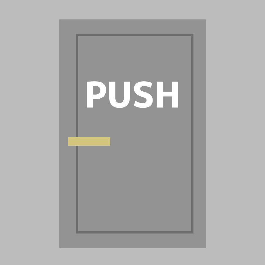 アフォーダンス理論のPUSHの画像
