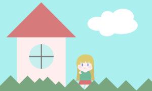 ゴルディロックス効果の3匹のクマの家の近くを通りかかったゴルディロックスの画像