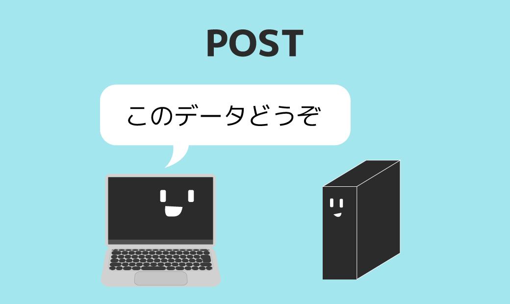 HTTPリクエストメソッド:POST