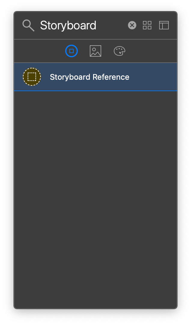 Objects LibraryでStoryboardReferenceを選択する画像