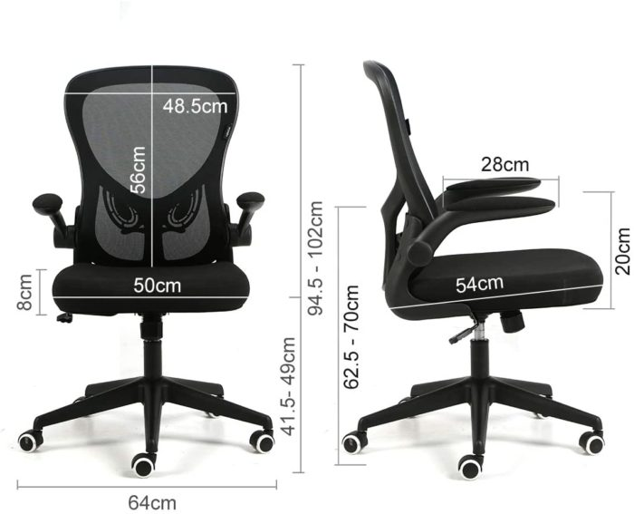 コンパクトで座り心地最強オフィスチェア高さ幅